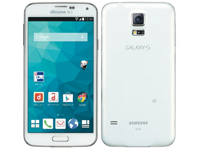 ポイント5倍![中古 Cランク] docomo Galaxy S5 SC-04F ホワイト 本体のみ 【白ロム】【スマホ】【格安スマホ】