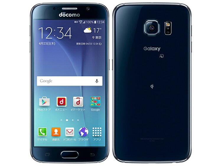 白ロム 中古 SIMロック解除済み docomo Galaxy S6 SC-05G ブラック 本体のみ [Bランク]