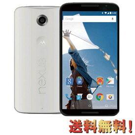 白ロム 新品 未使用 Nexus 6 XT1100 64GB(SIMフリー) ホワイト 標準セット [] IMEI:355470060576440 スマホ 中古 送料無料 当社3ヶ月保証