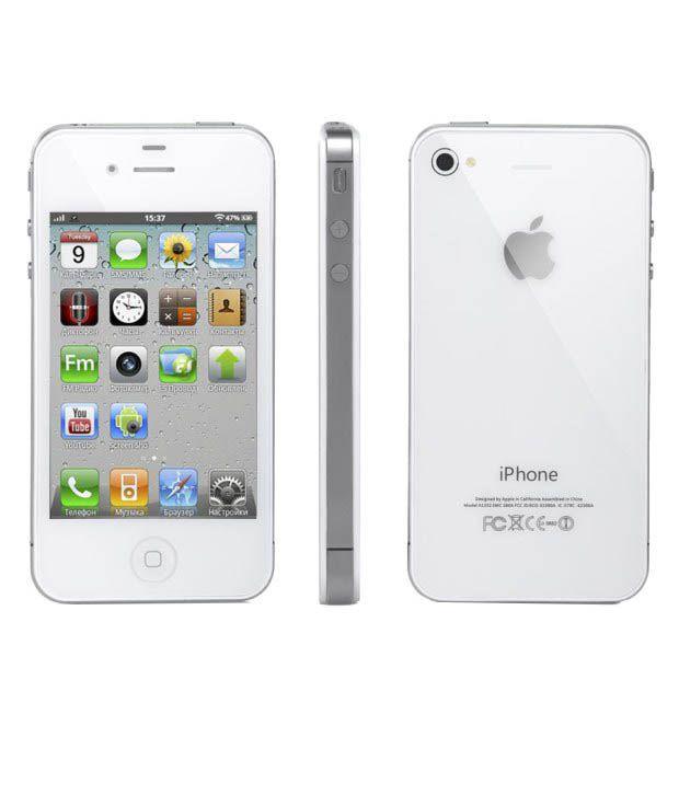 [中古 Bランク] au iPhone4S 16GB ホワイト 本体のみ 【送料無料】【エコモ】