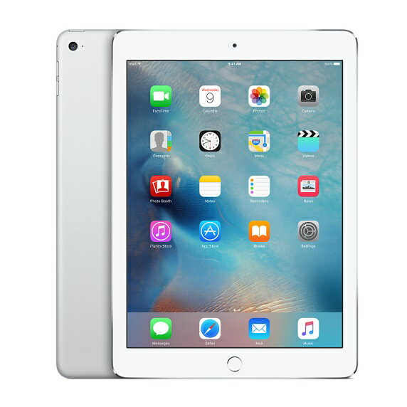 [中古 Cランク] au iPad Air 2 Wi-Fi+Cellularモデル 16GB シルバー 本体のみ 【送料無料】【エコモ】
