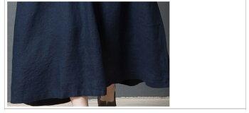 2カラー綿麻ワンピースロングワンピースマキシ丈ロングワンピ五分袖ゆったりエスニック風体型カバーAラインマキシワンピースシンプルナチュラル大きいサイズ着痩せ春マキシワンピフェミニンおしゃれ森ガール復古風