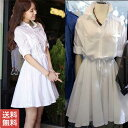 送料無料 レディース ワンピース 服 白ワンピース 長袖 レディースファッション ワンピースファッション  可…
