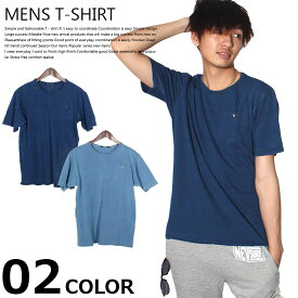 【ZI-ONx送料無料】メンズTシャツ 半袖Tシャツ デニム風Tシャツ 綿100% インディゴ染め ボタン付きポケットT「SJ-28-106」