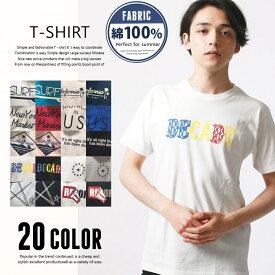 【ZI-ONx送料無料】メンズ プリントTシャツ 半袖Tシャツ ティーシャツ クルーネックTシャツ「829-06」