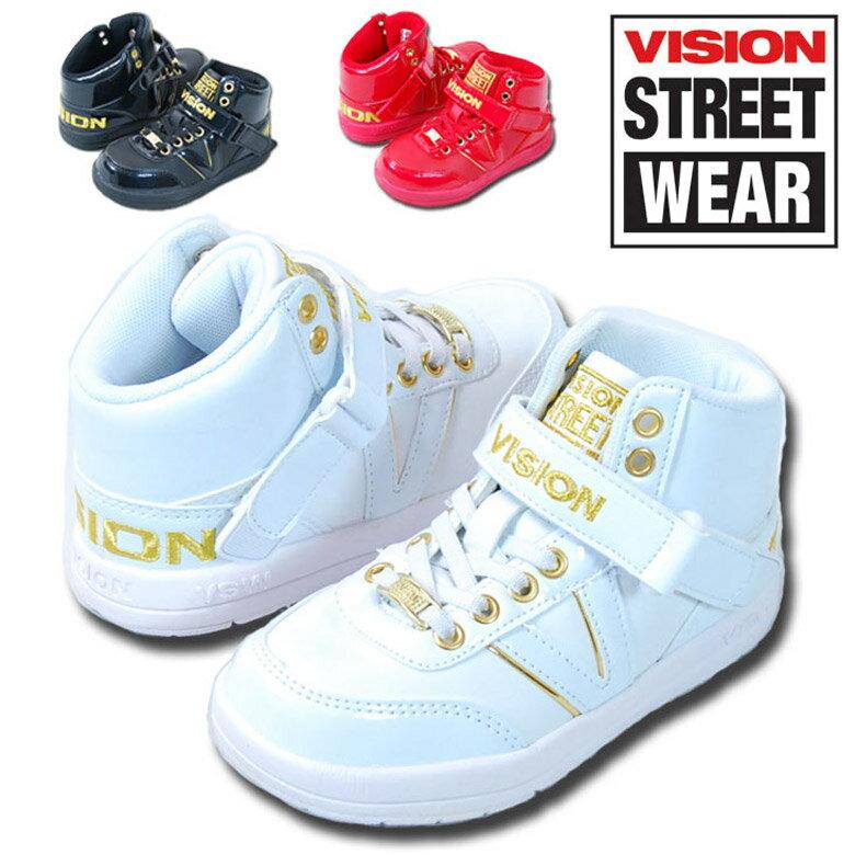 《送料無料》 「VKO-501」VISION ヴィジョン キッズ ダンス スニーカー ゴム紐 マジックテープ 16cm 17cm 18cm 19cm 20cm 21cm 22cm 23cm 男の子 ボーイズ 女の子 ガールズ 靴 ビジョン ダンス シューズ スニーカー