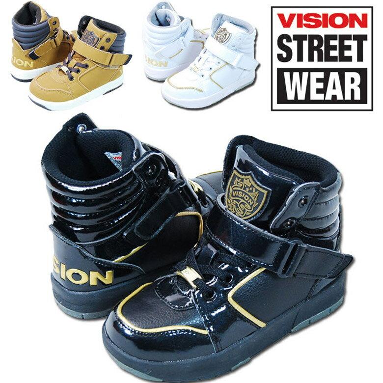 《送料無料》 「VKO-504」 「N1」 VISION ヴィジョン キッズ スニーカー ハイカット ゴム紐 マジックテープ 16cm 17cm 18cm 19cm 20cm 21cm 22cm 23cm 男の子 ボーイズ 女の子 ガールズ くつ 靴 ビジョン ダンス キッズ ジュニア 靴 カジュアル靴 スニーカー 401085