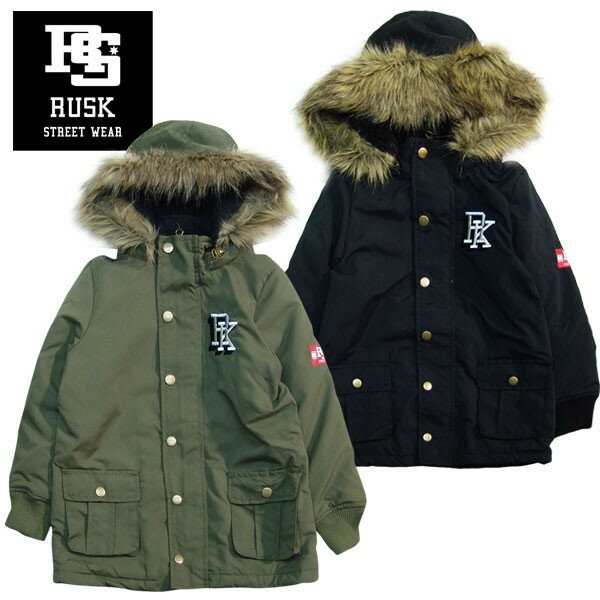 「3741-14」 RUSK モッズコート ラスク キッズ ジュニア ボーイズ 男の子 アウター コート