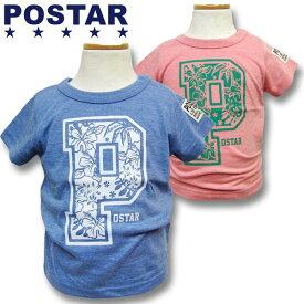 《メール便送料無料》 POSTAR ポスター BIG SURF 半袖Tシャツ 男の子 ボーイズ 女の子 ガールズ ベビー アメカジ キッズ 子供服 Tシャツ 半袖 プリント「1421-13」