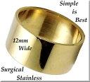 [ZIG's]◆ワイドで存在感 & シンプルで飽きがこない/[幅12mm]/筒型、平型リング(指輪)/[サージカルステンレス-316L]…