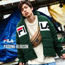FILA 中綿入りジャケット メンズ ブルゾン アウター 中綿 防寒 ロゴ ジャンバー ジャンパー 刺繍 スポーティ フィラ ZIP ジップ (fh7415)