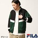 FILA トラックジャケット メンズ ジャージ トラックトップ ブルゾン スポーティ 切替 スポーツ フィラ ZIP ジップ (fh7421)