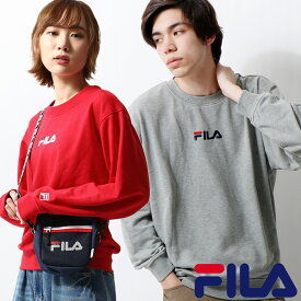 FILA トレーナー メンズ スウェット スエット ロゴ ロゴ刺繍 ワンポイント 長袖 クルーネック フィラ ZIP ジップ (fh7473)