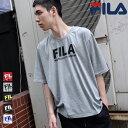 FILA Tシャツ メンズ レディース カットソー 半袖 クルーネック ロゴ プリント ビッグシルエット オーバーサイズ スポーティ フィラ ZIP ジップ 夏 夏服 夏物 (fh7528) #