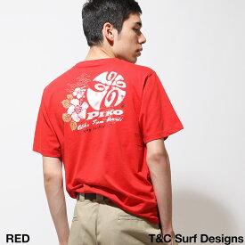 Tシャツ メンズ レディース Tシャツ 半袖 クルーネック プリント ワンポイント バックプリント ピコ PIKO ZIP ジップ 春 春物 春服(pkm1401)