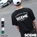 Tシャツ tシャツ メンズ 白 半袖 クルーネック ロゴ ロゴ刺繍 バックプリント プリント SCENE シーン ZIP ジップ (sn9002)#