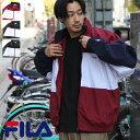 FILA ナイロンジャケット メンズ ジャケット ウィンドブレーカー ブルゾン アウター ナイロン 切替 スポーティ メンズファッション ZIP FIVE ジップファイブ 春 春服 春物 (fh763