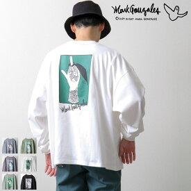 Mark Gonzales Tシャツ ロングTシャツ メンズ ロンT カットソー バックプリント バックイラスト くすみカラー ビッグシルエット ビックシルエット ビッグTシャツ マークゴンザレス ZIP ジップ (mg-0280) #