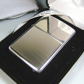 Zippo lighters Zippo Zippo sterling silver 26-Armor (armour) model glossy stock sterling silver type