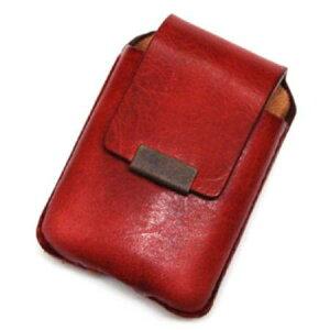 ZIPPOケース ベルト通し付 RED ◆ZIPPO ジッポー オイル ライターケース 喫煙具 携帯用 赤 レッド