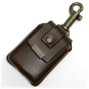 ZIPPOケース キーホルダータイプ BROWN ◆ZIPPO ジッポー オイル ライターケース 喫煙具 携帯用 茶 ブラウン
