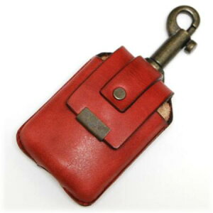 ZIPPOケース キーホルダータイプ RED ◆ZIPPO ジッポー オイル ライターケース 喫煙具 携帯用 赤 レッド