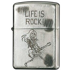 ファニースカル「人生はロックだ!」 2UDS-ROCK ◆ZIPPO ジッポー オイル ライター 喫煙具 -Funny Skull ROCK-