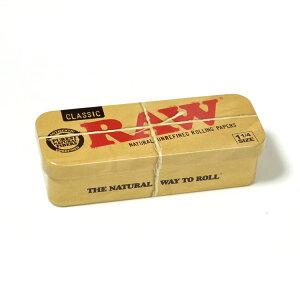 RAW ロールキャディケース 1 1/4 ◆手巻き シャグ RYO タバコ 喫煙具 ロウ ナチュラル 無添加 缶ケース ベージュ