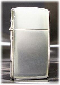 シルバーメッキ 100ミクロン #1600 ミラー ◆ZIPPO ジッポー オイル ライター 喫煙具 銀メッキ SilverPlate 100μ スリムモデル 無地 シンプル つや有り