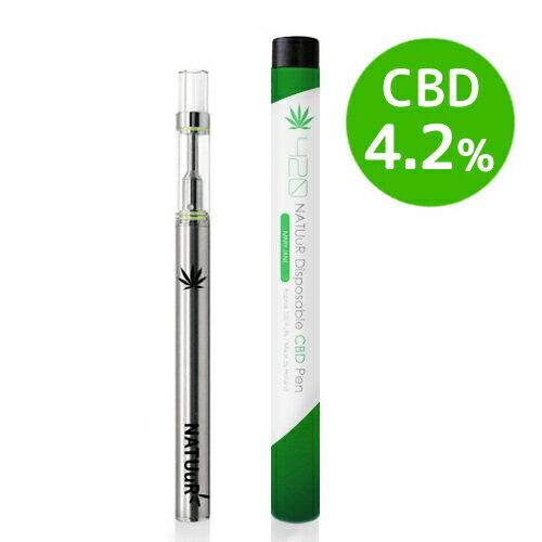 【ネコポス可】NATUuR - 420 Disposable CBD Pen 4.2%CBDリキッド入り 使い捨てCBDペン420 電子タバコ VAPE