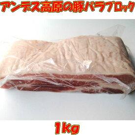 豚バラ肉ブロック 角煮 自家製チャーシュー 自家製ベーコン チリ産冷凍豚ばら肉ブロック 業務用 1kg サムギョプサル パンチェッタ カルビ ラフテー