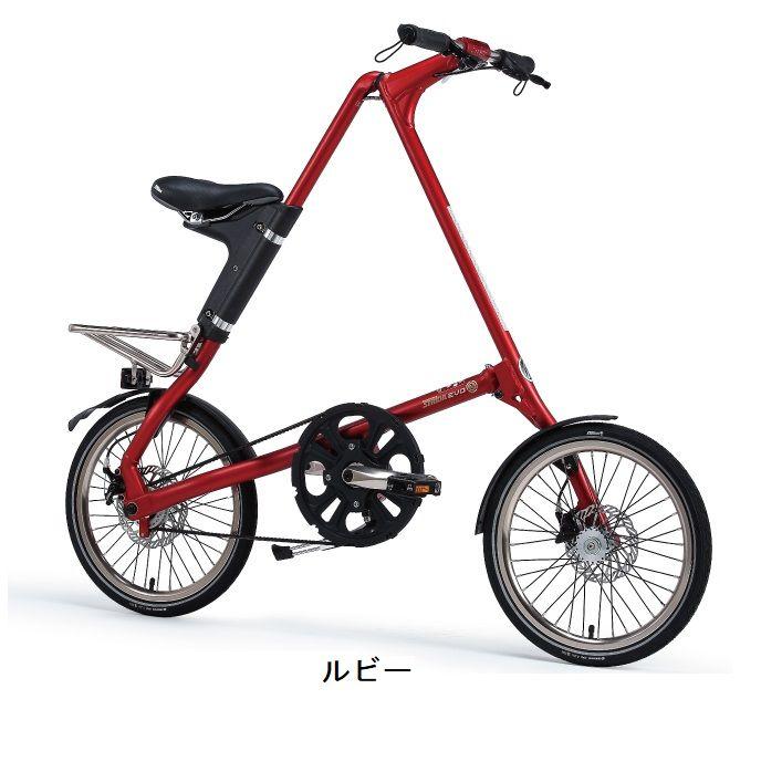 送料無料(一部地域除く) STRiDA EVO18(ストライダ エボ18) 18インチ 3段変速 折り畳み自転車 輪行袋+選べるサービス品、防犯登録付属