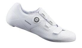 ●SHIMANO(シマノ) RC5(ESHRC500、SH-RC500) SPD-SL ロードバイク用 ビンディングシューズ ホワイト 【北海道・沖縄・離島地域 配送不可】