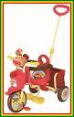 【送料無料!】幼児用三輪車 M&M(エムアンドエム) わくわくアンパンマンごうピース おでかけ三輪車