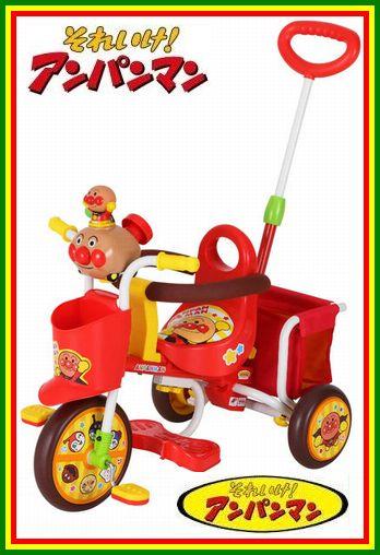【送料無料!】 M&M(エムアンドエム) わくわくアンパンマンごうピースII 子供用三輪車【カラー:レッド】