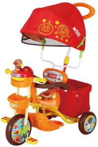 M&M(エムアンドエム) それいけ!アンパンマン デラックスII 子供用三輪車 【カラー:オレンジ】【北海道・沖縄・離島地域 配送不可】