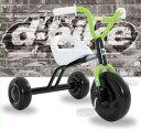 【送料無料!】ides(アイデス) D-Bike TRY! (ディーバイク トライ!)※カラー:ブラック(ハンドル部グリーン)子供用三輪車