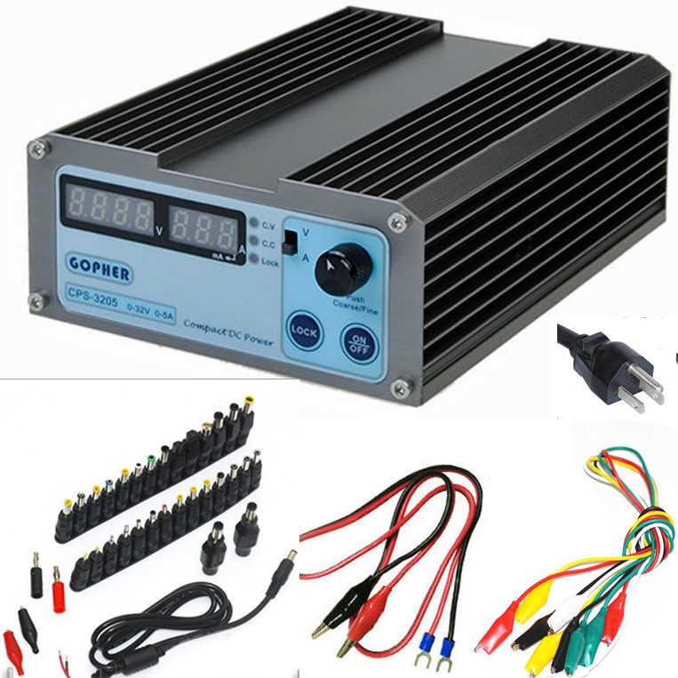 高精度小型デジタル 32V 5A 安定化電源 37個DCジャック 0.01V/0.01A OVP OCP OTP オリジナル日本語説明書つき
