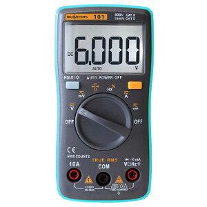 RM101 デジタルマルチメータ 6000カウント バックライト AC DC 電流計 電圧計 抵抗