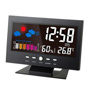 デジタル 温度 湿度計 時計 カレンダー トレンド アラーム 快適レベル ウェザーステーション オリジナル日本語説明書つき