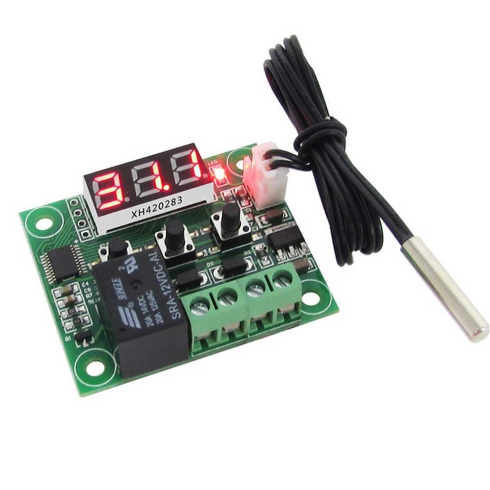 サーモスタット モジュール W1209 デジタル LED DC 12V ヒートクール 温度 温度制御 オン/オフ スイッチ コントローラーボード +NTCセンサー