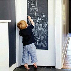黒板 ステッカー 壁 ステッカー リムーバブル 黒板 キッズルーム ホームインテリア チョーク