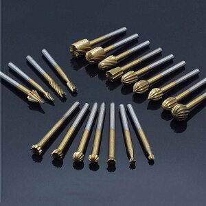 dremel ドレメル チタンコート 木工 HSS 回転やすり 20本セット 3mm ルーティング ロータリーナイフ やすり カッター ツール