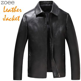 ラムレザージャケット ライダースジャケット メンズ 秋冬 アウター 本革 羊革 大きいサイズ ブラック L/2L/3L/4L/5L f4b09