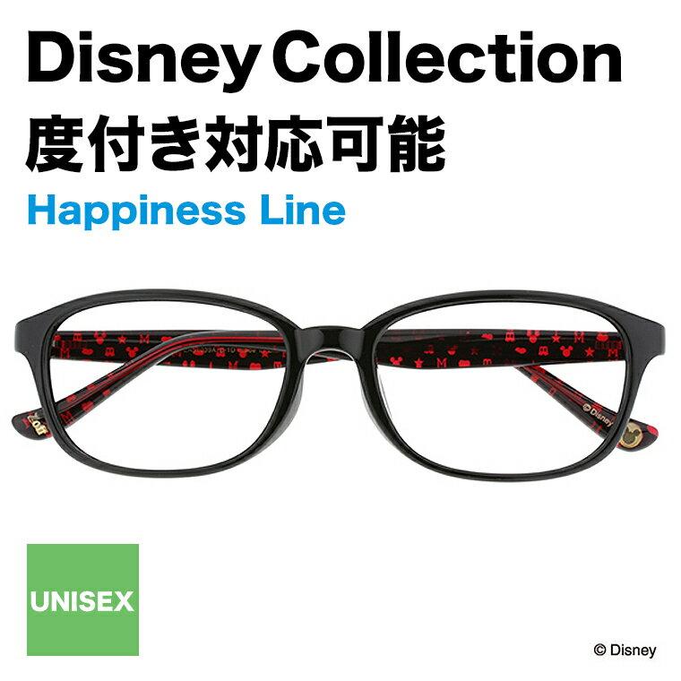Disney Collection Happiness Line B-1D(ブラック)【ディズニーコレクション/ミッキーマウス/Mickey Mouse/黒縁/レッド/赤/眼鏡/メガネ/めがね/ウェリントン メンズ レディース Disneyzone zoff_dtk】【ZA51039_B-1D】