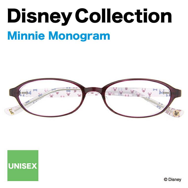 Disney Collection Happiness Line H-2(パープル)【ディズニーコレクション/ミニーマウス/Minnie Mouse/モノグラム/ブラウン/眼鏡/メガネ/めがね/オーバル/Disneyzone zoff_dtk】【ZA61005_H-2 ZA61005-H-2】