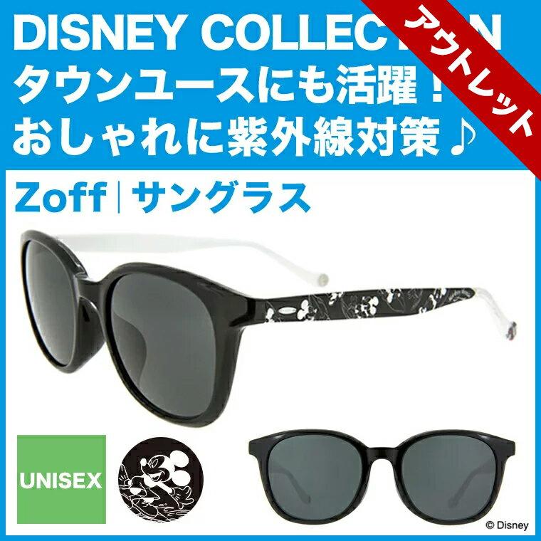 【ポイント10倍】Disney Collection Sunglasses 2017【ミッキーマウス】ウェリントン型サングラス B-1(ブラック)【ディズニーコレクション コラボ Mickey Mouse おしゃれ 黒縁めがね ゾフ Zoff UVカット 紫外線対策 メンズ レディース Disneyzone】【ZA71G09_B-1】