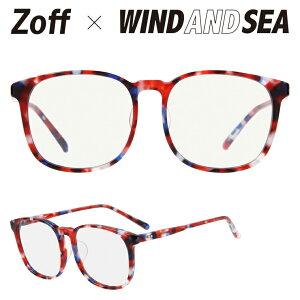 ウェリントン型サングラス Zoff×WIND AND SEA ゾフ 紫外線対策 UV対策 メンズ レディース おしゃれ【ZH201G02_29C1 ZH201G02-29C1 レッド】【54□16-145】