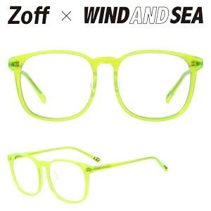 ウェリントン型クリアレンズサングラス|Zoff×WIND AND SEA|Zoff UV (UV100%カット) |ゾフUV ダテメガネ おしゃれ UVカット クリアサングラス 紫外線対策 メンズ レディース【ZH201G03_52A1 ZH201G03-52A1