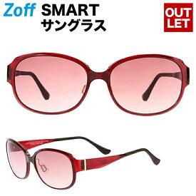 オーバル型サングラス Zoff SMART(ゾフ・スマート) Regular SUNGLASSES 紫外線対策 UV対策 めがね おしゃれ レディース メンズ【ZJ181G04_23A1 ZJ181G04-23A1 レッド】